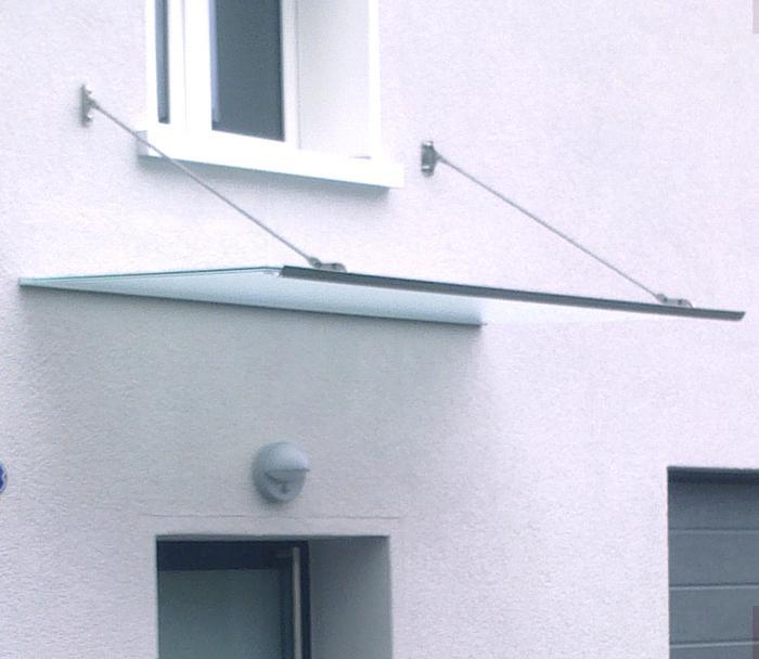 Glasvordach Modell Flying