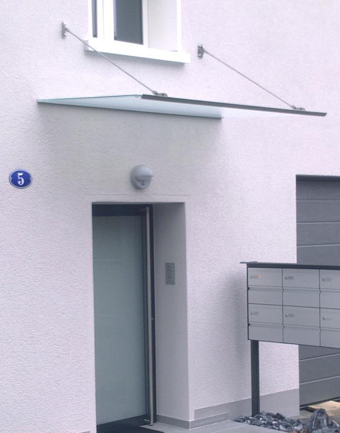 Häufig Glas Vordach.ch:Vordächer aus Chromstahl & Edelstahl für Türen JL49